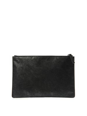 Bonded-paper and leather pouch