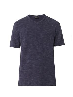 Textured cotton-jersey T-shirt