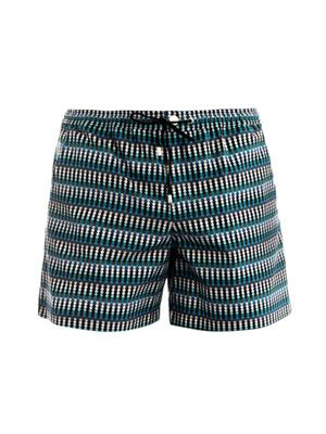 Isaac cotton ombré shorts