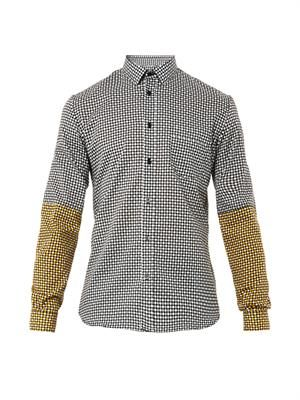 Checker-print cotton shirt