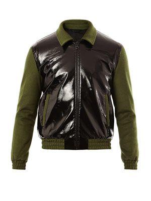 Aaron contrast sleeve bomber jacket