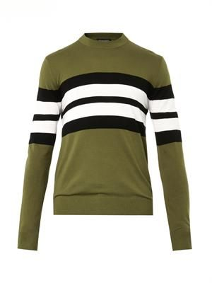 College-stripe sweater