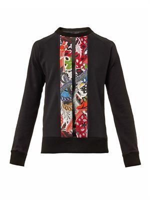 Bonded floral-print sweatshirt