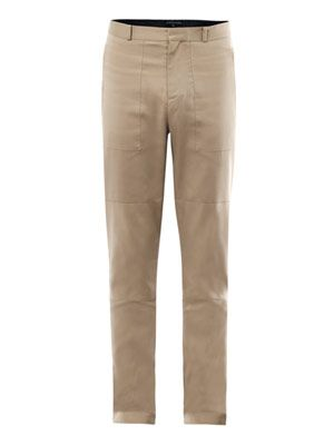 Harrison bonded-cotton trousers
