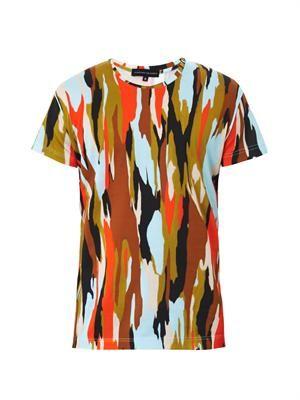 Pollock-print T-shirt