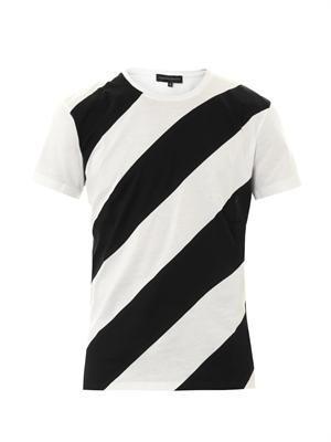 Alfred diagonal-stripe T-shirt