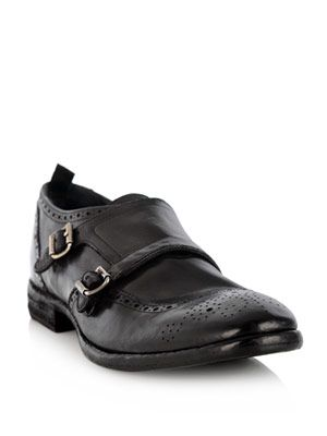 Spazzalato double-strap monk shoes