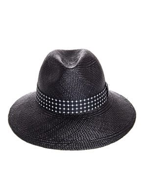Wide brim fedora hat