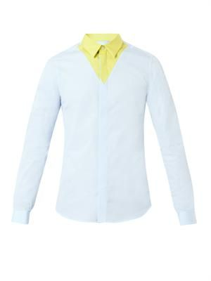 Bi-colour cotton shirt