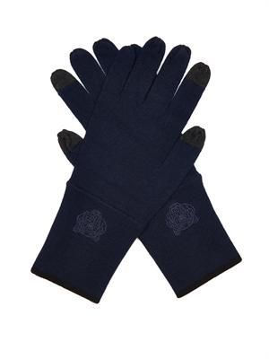 Embroidered wool gloves