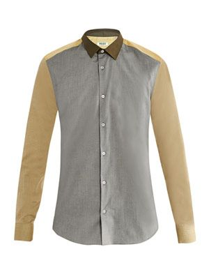 Tri-colour slim shirt