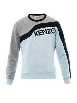 Wave colour-block sweatshirt