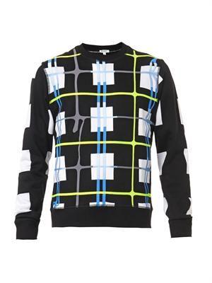 Square-print sweatshirt
