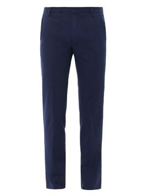 Tailored flat-front trousers