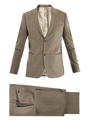 Costume elbow-insert single-breasted suit