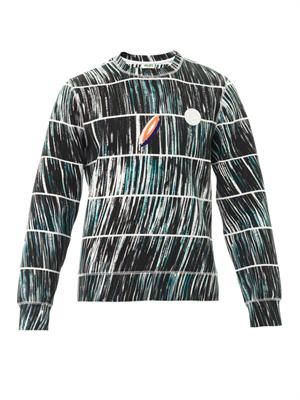 Neoprene wave-print sweatshirt