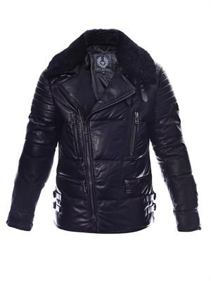 Westleigh padded leather biker jacket
