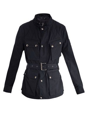 Tech cotton belted jacket
