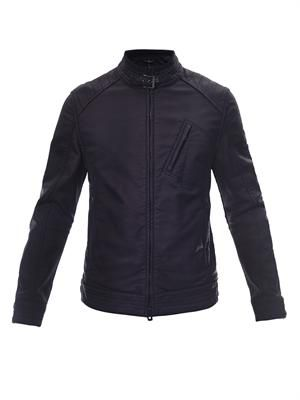 H Racer coated-jersey biker jacket