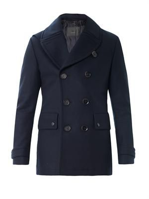 Brentwood double-breasted peacoat