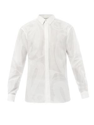 Rope-jacquard shirt