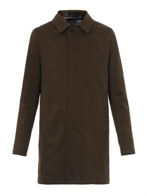Reversible single-breasted coat