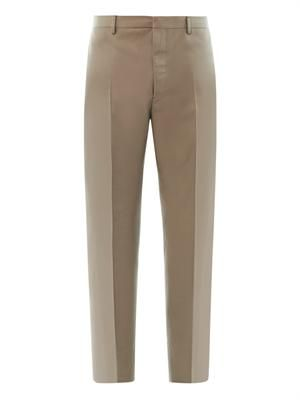 Carrot-leg tailored trousers