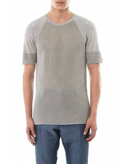 Cerruti 1881 Paris Fine-knit silk T-shirt
