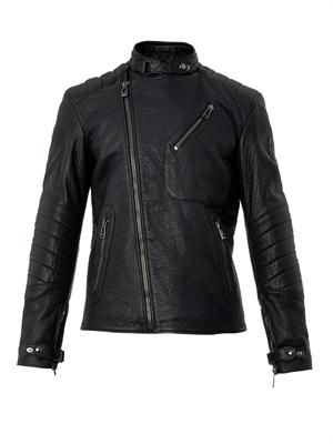 Kendal leather biker jacket