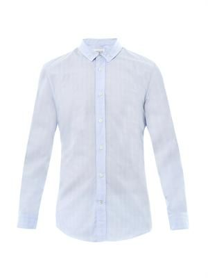Envelope-print cotton shirt