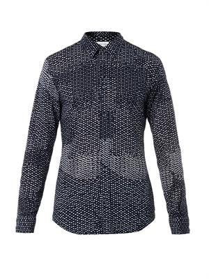 Multi dot-print cotton shirt
