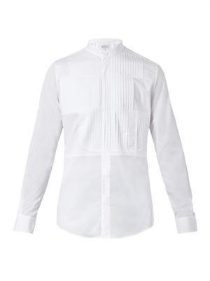 Misplaced bib-front cotton shirt