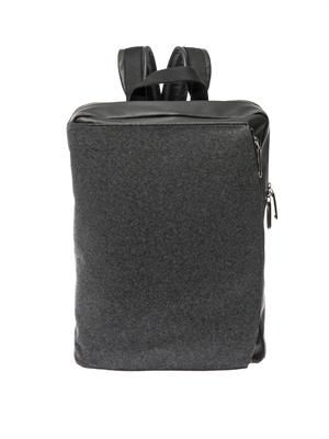Felt and leather backpack