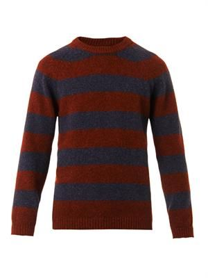 Striped yak-wool sweater