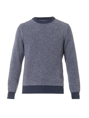 Bird's-eye knit sweater