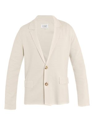Knitted cotton blazer