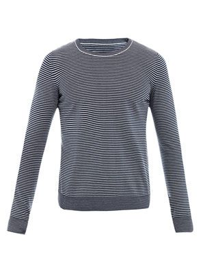 Stripe crew-neck sweater