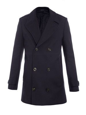 Honeycomb pea coat