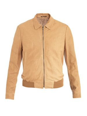 Lambs leather bomber jacket