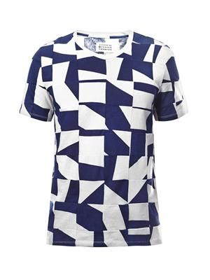 Dissected jigsaw-print T-shirt