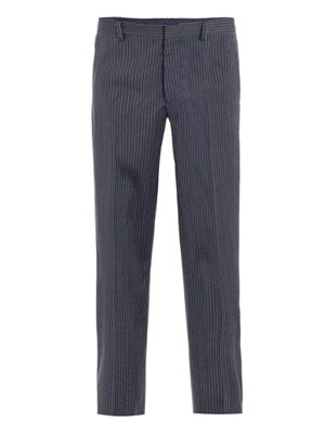 Slim-fit stripe trousers