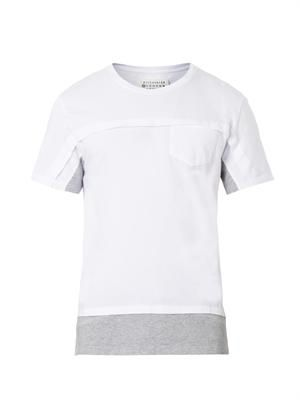 Bi-colour cotton T-shirt