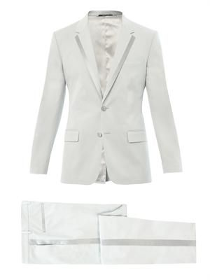 Two button cotton-blend tuxedo