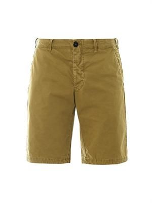 Washed-cotton Bermuda shorts