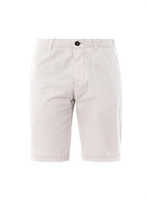 Washed cotton-twill Bermuda shorts