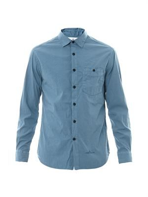 Casual cotton-blend shirt