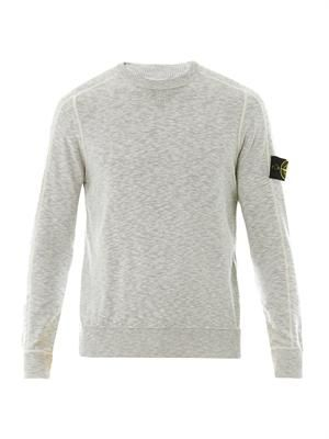 Crew-neck cotton sweatshirt