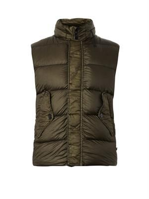 Garment-dyed lightweight quilted gilet