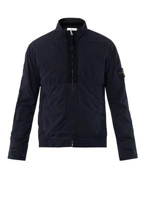 Harrington funnel-neck jacket