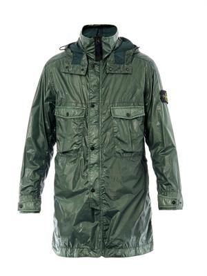 Coated two-length parka